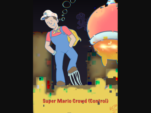 Not sure if this falls under Jerod or Jerod-sona - but boy, yet another hilarious crowd control stream I captured in art way back, this time with a classic Mario game I think? It's been a while. (All my fanart is done in Procreate, just thought I'd say)